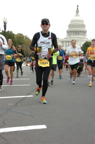 Running past The Capitol at Marine Corps Marathon 2013
