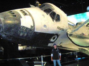 With Space Shuttle Atlantis at Kennedy Space Center