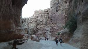 Walking to the Start Line through The Siq