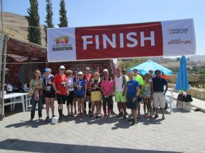 Finish Line of the 2014 Petra Desert Marathon