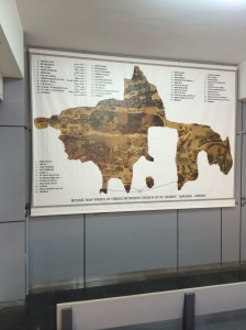 In an adjoining building a chart hangs where our guide expertly described the Madaba Map section by section.