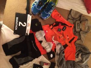 "X-Bionic ""The Trick"" Running shirt and shorts, Asics Nimbus, Polar RC3 and RCX5 GPS, Raw Bites and LIVESTRONG"